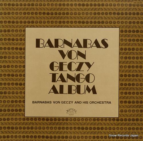 GECZY, BARNABAS VON barnabas von geczy tango album XM-188-RC - front cover