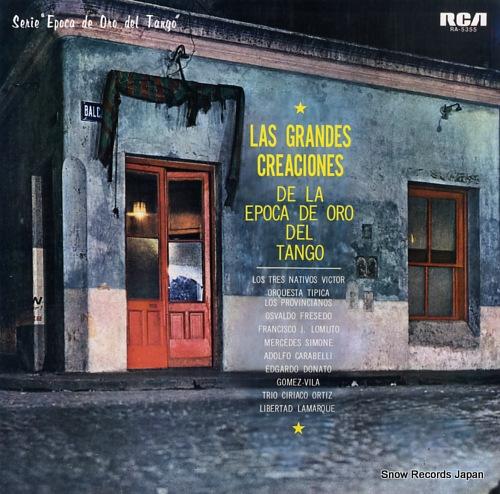 V/A las grandes creaciones de la epoca de oro del tango RA-5355 - front cover
