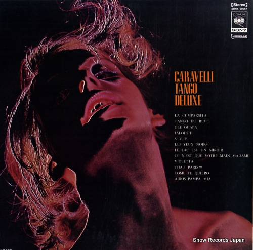 CARAVELLI AND HIS MAGNIFICENT STRINGS caravelli tango deluxe SONX60067 - back cover