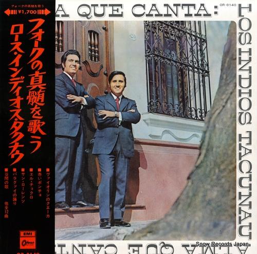 LOS INDIOS TACUNAU alma que canta OR-8140 - front cover