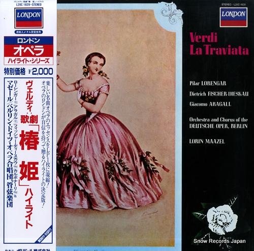 ロリン・マゼール ヴェルディ:歌劇「椿姫」ハイライト L20C1829