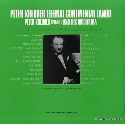 KREUDER, PETER eternal continental tango Y-1002-G - back cover