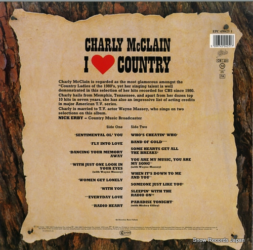 MCCLAIN, CHARLY i love country EPC4504251 - back cover