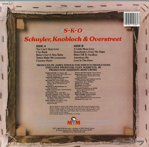 SCHUYLER, KNOBLOCH AND OVERSTREET s-k-o ST-71058 - back cover