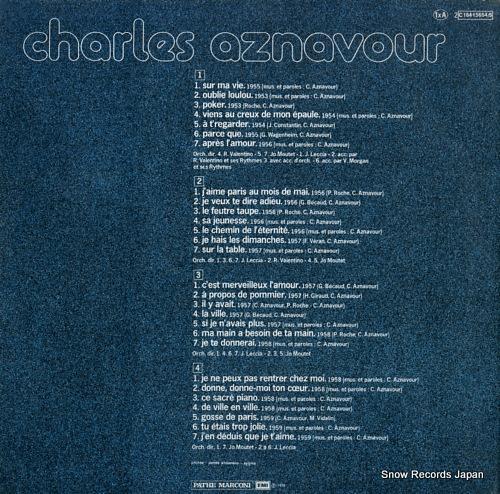 AZNAVOUR, CHARLES charles aznavour 2C184-15654/5 - back cover
