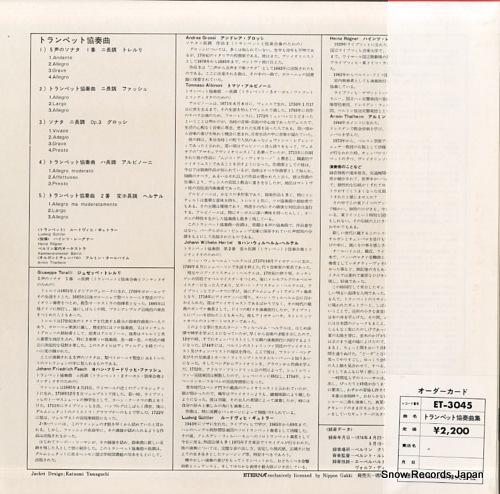 GIITTLER, LUDWIG trompeten konzerte ET-3045 - back cover