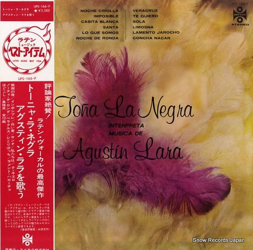 NEGRA, TONA LA interpreta musica de agustin lara UPS-166-F - front cover