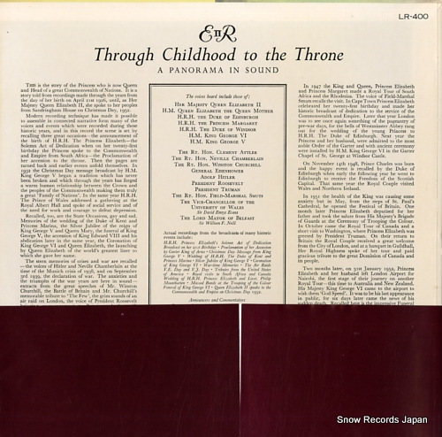 QUEEN ELIZABETH II through childhood to the throne LR-400 - back cover