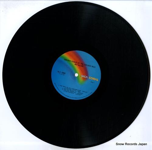 ALLEN, REX golden songs of the golden west VL73885 - disc