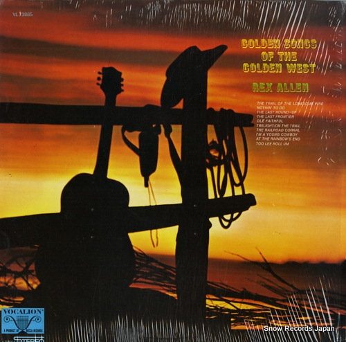 ALLEN, REX golden songs of the golden west VL73885 - front cover