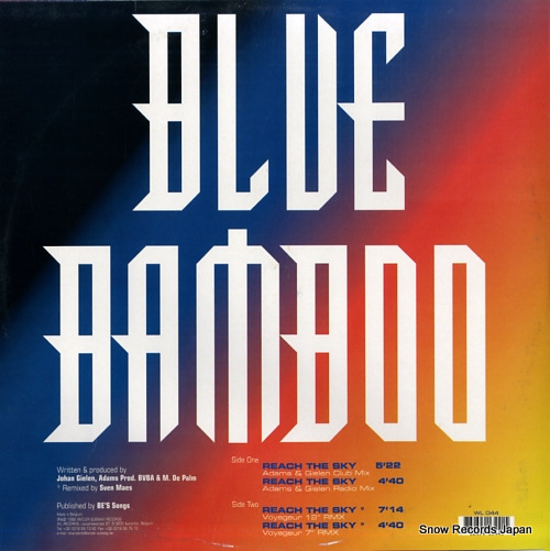 BLUE BAMBOO reach the sky WL044 - back cover