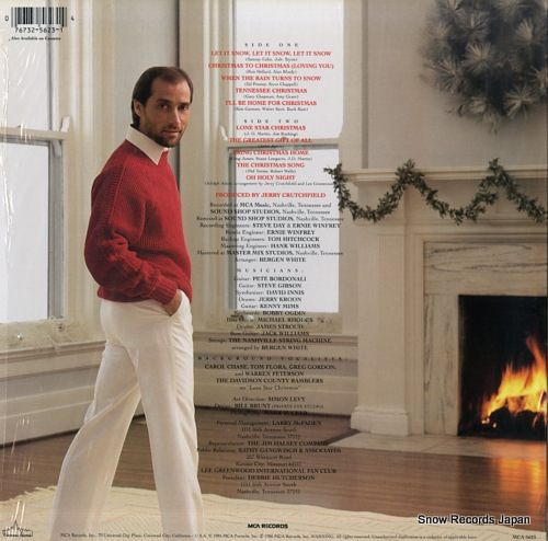 GREENWOOD, LEE christmas to christmas MCA-5623 - back cover