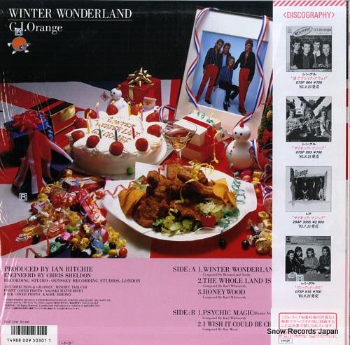 G.I. ORANGE winter wonderland 23AP3100 - back cover