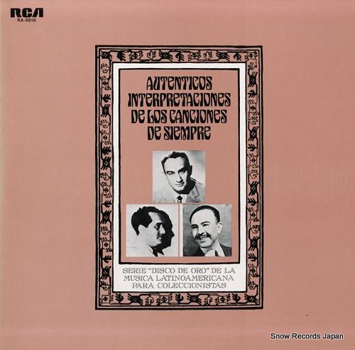 V/A autenticas interpretaciones de los canciones de siempre RA-5616 - front cover