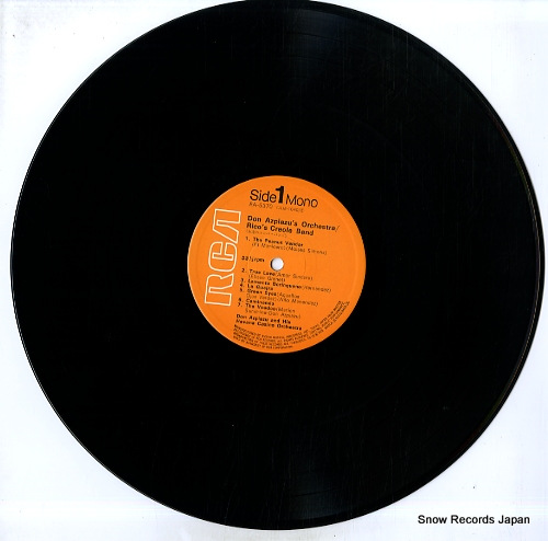 DON AZPIAZU'S ORCHESTRA / RICO'S CREOLE BAND don azpiazu's orchestra / rico's creole band RA-5370 - disc