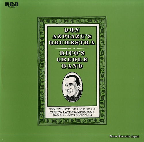 DON AZPIAZU'S ORCHESTRA / RICO'S CREOLE BAND don azpiazu's orchestra / rico's creole band RA-5370 - front cover