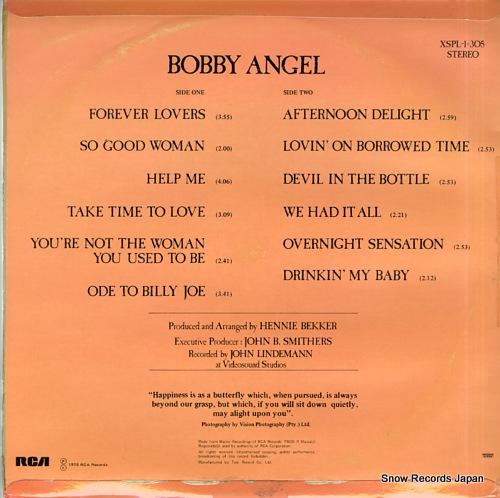 ANGEL, BOBBY bobby angel XSPL-1-305 - back cover