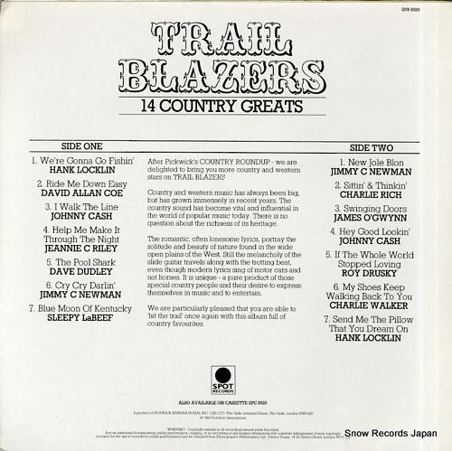 V/A trail blazers SPR8525 - back cover