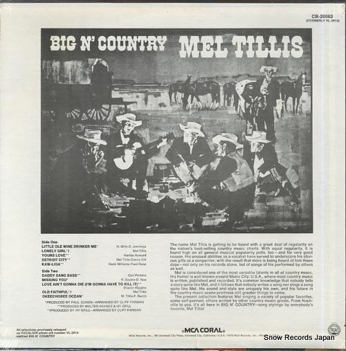 TILLIS, MEL big n' country CB-20063 - back cover