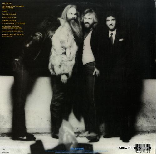 OAK RIDGE BOYS, THE american made MCA-5390 - back cover