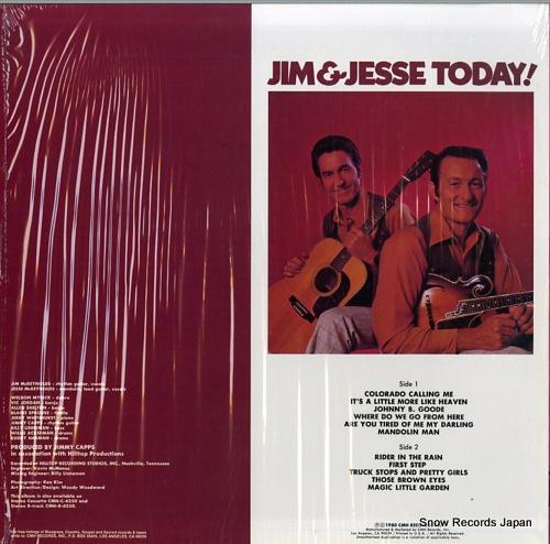 JIM AND JESSE jim & jesse today! CMH-6250 - back cover