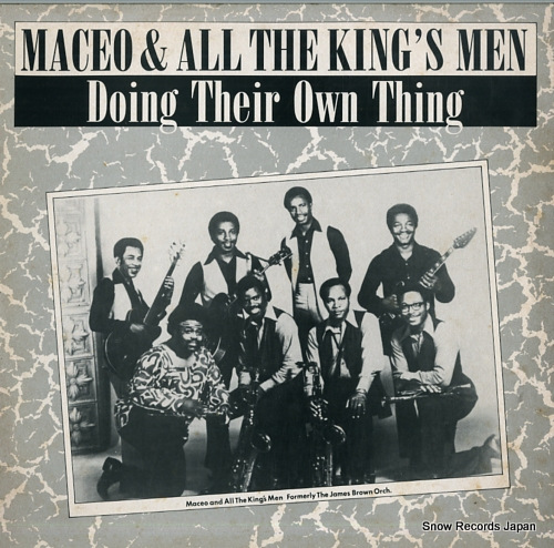 MACEO AND ALL THE KING'S MEN doing their own thing CRB1176 - front cover