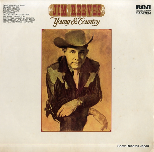 REEVES, JIM young and country CAS-2532 - front cover