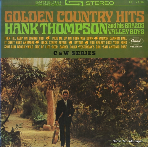 THOMPSON, HANK golden country hits CP-7104 - front cover