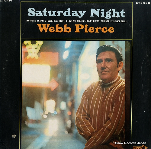 PIERCE, WEBB saturday night DL75071 - front cover