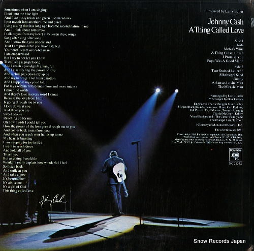 CASH, JOHNNY a thing called love KC31332 - back cover