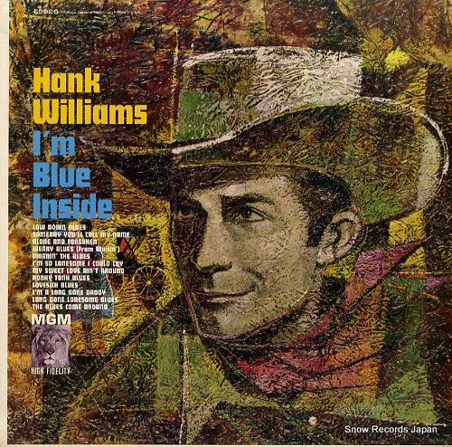 WILLIAMS, HANK i'm blue inside E3926 - front cover