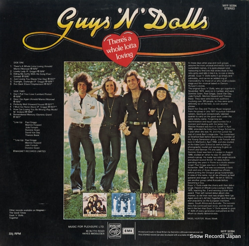 GUYS 'N' DOLLS there's a whole lotta loving MFP50394 - back cover