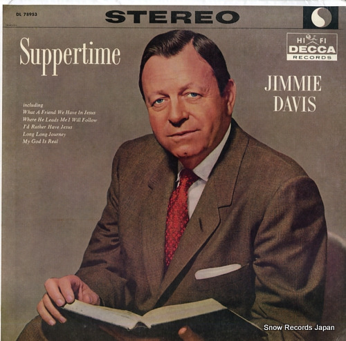 DAVIS, JIMMIE suppertime DL78953 - front cover