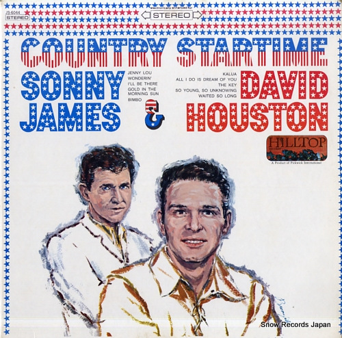 HOUSTON, DAVID, AND SONNY JAMES country startime JS-6044 - front cover