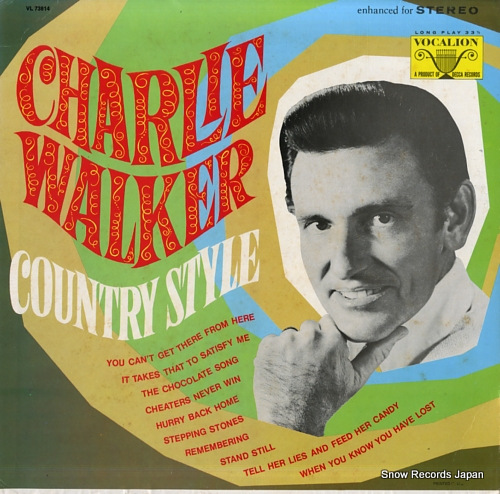 WALKER, CHARLIE country style VL73814 - front cover