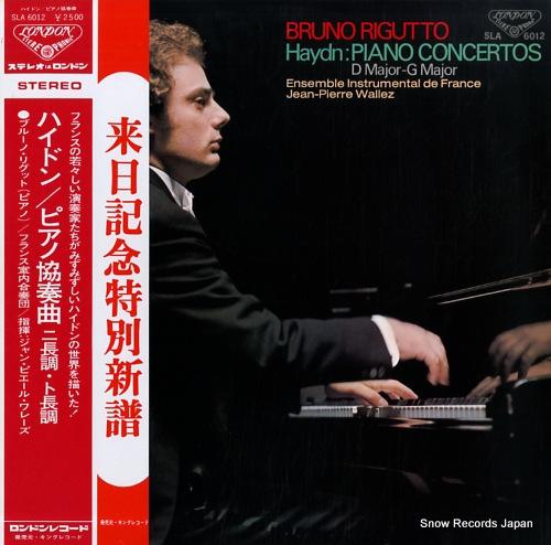 RIGUTTO, BRUNO haydn; piano concertos SLA6012 - front cover