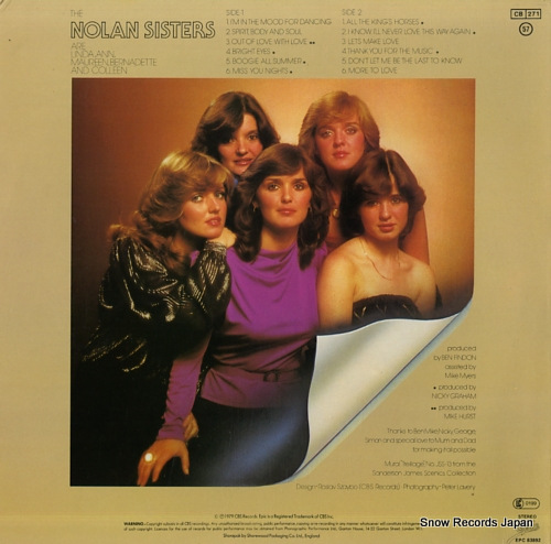 NOLAN SISTERS, THE the nolan sisters SEPC83892 - back cover