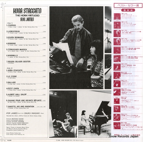JAMES, IFOR hora staccato - the horn virtuoso - SLA1239 - back cover