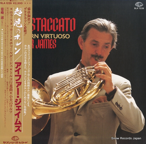 JAMES, IFOR hora staccato - the horn virtuoso - SLA1239 - front cover