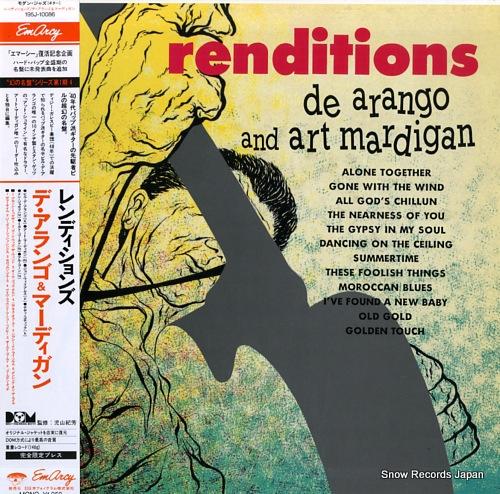 DE ARANGO, BILL, AND ART MARDIGAN renditions 195J-10086 - front cover