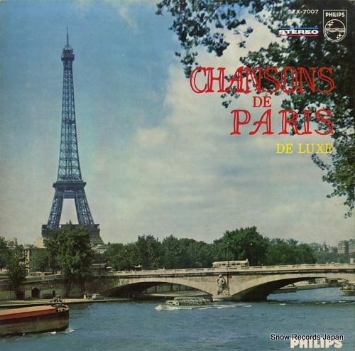V/A chansons de paris de luxe SFX-7007 - front cover