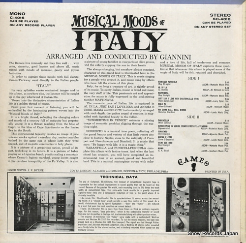 GIANNINI musical moods of italy C-4016 - back cover
