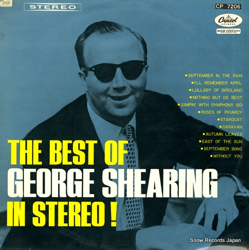 SHEARING, GEORGE the best of george shearing in stereo! CP-7206 - front cover