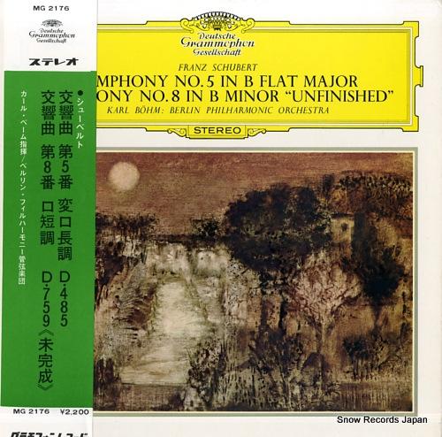 bohm karl schubert; symphony no.5 & 8 ''unfinished''