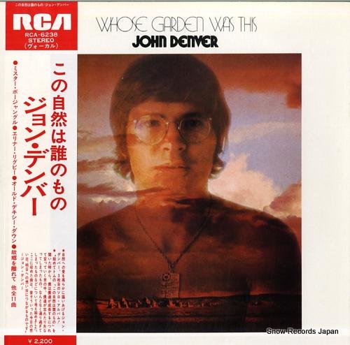 DENVER, JOHN whose garden was this RCA-6238 - front cover