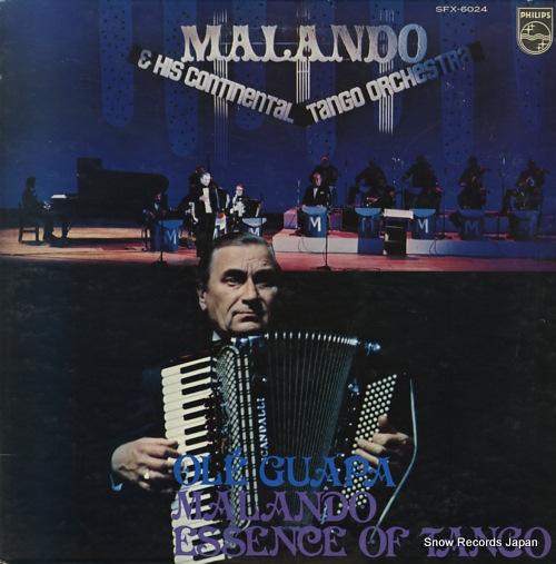 MALANDO AND HIS ORCHESTRA ole guapa / malando essence of tango SFX-6024 - front cover
