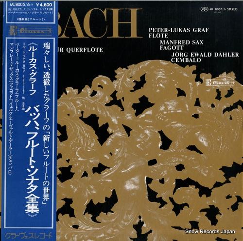 GRAF, PETER-LUKAS bach; die sonaten fur querflote ML8005/6 - front cover