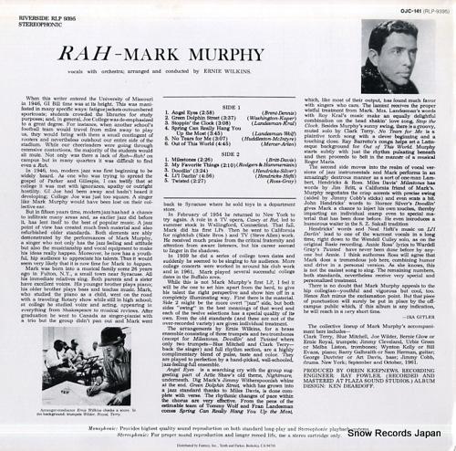 MURPHY, MARK rah OJC-141 - back cover