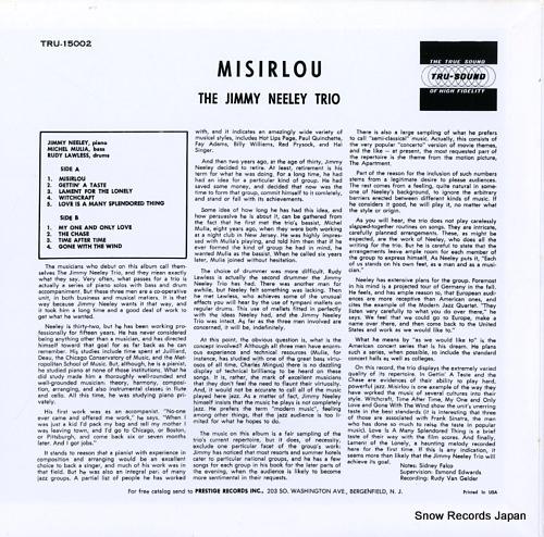 NEELEY, JIMMY misirlou WWLJ-7082 - back cover