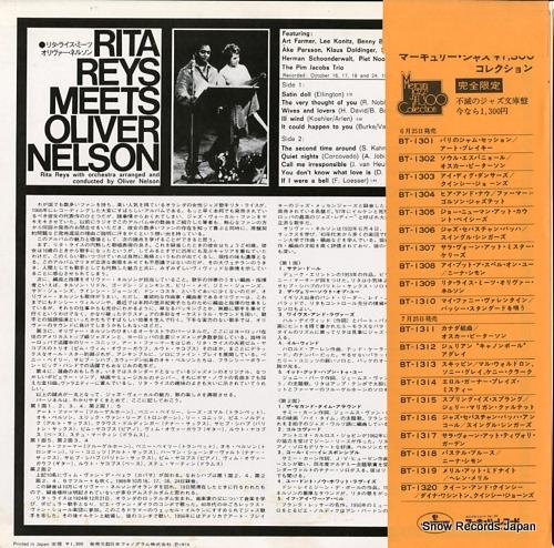 REYS, RITA rita reys meets oliver nelson BT-1309 - back cover